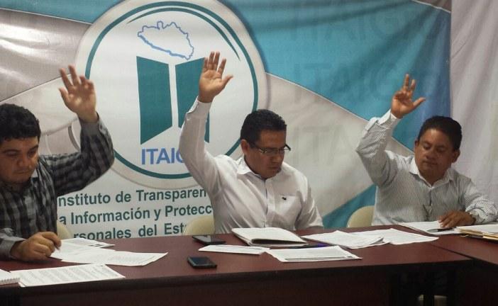 Sesiona Comité de Transparencia del ITAIGro a favor de el acceso a la información