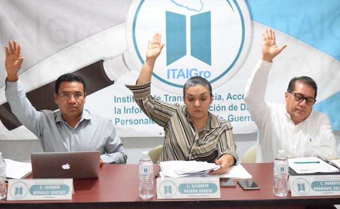 ITAIGro ordena sujetos obligados entregar información