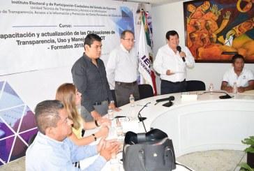 Curso-Taller de Capacitación del Comité de Transparencia y Titulares de Unidades Administrativas del Instituto Electoral y de Participación Ciudadana (IEPC)
