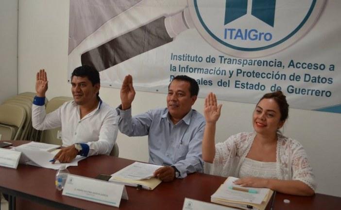 En sesión extraordinaria el pleno del ITAIGro aprueba la admisión de dos recursos de revisión