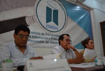 Aprueban comisionados del ITAIGro, sobreseer tres recursos de revisión previstos en la Ley de Transparencia