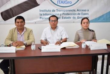 El ITAIGro, exhortó a los sujetos obligados de la entidad a elaborar su Índice de Expedientes Clasificados como Reservados