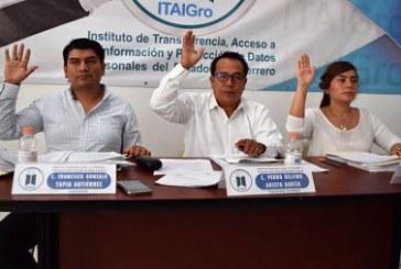 Ordena el ITAIGro a los sujetos obligados, para que instruyan a los titulares de las unidades de transparencia, para que acudan a la dirección de Tecnologías de la Información del órgano garante, para que obtengan su usuario y contraseña como administradores de la Plataforma Nacional de Transparencia