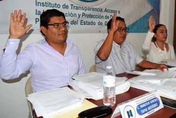 Instruye el ITAIGro, al ayuntamiento de Técpan, de Galeana cumplir con sus obligaciones de transparencia