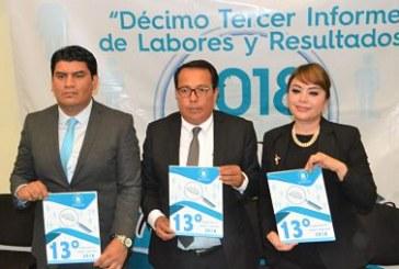 Presenta el ITAIGro, su Décimo Tercer Informe de Labores 2018, al Congreso del Estado.