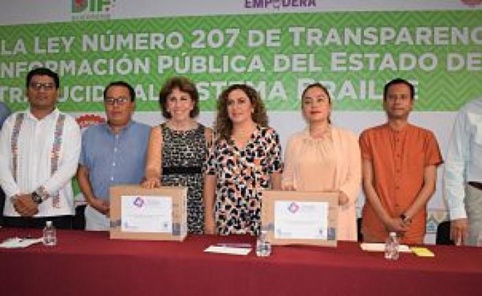 Guerrero se convirtió en la entidad número 16 en contar con su Ley de Transparencia, traducida al sistema Braille