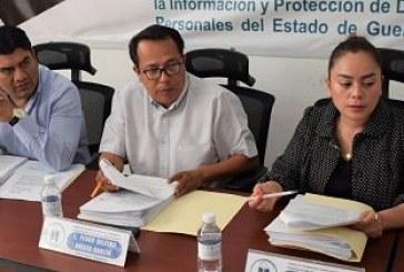 Modifica el ITAIGro, la agenda del Programa Anual de Verificaciones y Vigilancia 2019. -el órgano garante admite a trate 8 recursos de revisión dirigidos a diversos sujetos obligados.