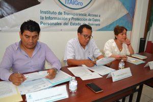 Comisionados del ITAIGro, aprobaron exhortar a los ayuntamientos a no borrar información difunda en la Plataforma Nacional de Transparencia